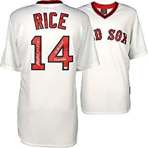 Jim Rice Boston Red Sox Autographed White Majestic Jersey with Multiple Inscriptions - Fanatics Authentic Certified