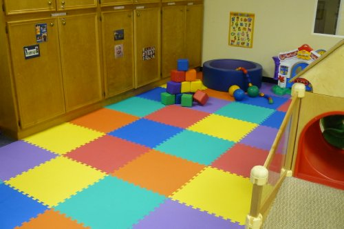 We Sell Mats Charcoal Grey 16 Square Ft (4 Tiles + Borders) Foam Interlocking Floor Square Tiles by We Sell Mats (Image #6)