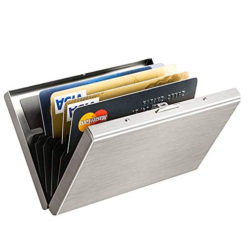 (RFID Credit Card Holder Protector MaxGear Stainless Steel Credit Card Wallet Slim RFID Metal Credit Card Case for Women or Men)