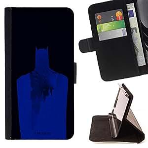 BullDog Case - FOR/Samsung Galaxy Core Prime / - / blue dark knight /- Monedero de cuero de la PU Llevar cubierta de la caja con el ID Credit Card Slots Flip funda de cuer