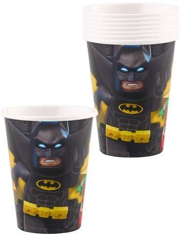 """Lote de 24 Vasos de Cartón Infantiles""""Lego Batman"""". Vajillas y Cuberterías Desechables"""