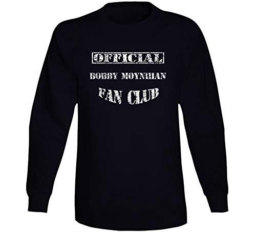 Bobby Moynihan Fan Club Comedian Comedy Worn Look Cool Fan Long Sleeve T Shirt M Black