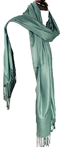 Cashmere Scarf ladies scarves Wrap Shawls NEW women (Blue Green) from The Little Market Shop