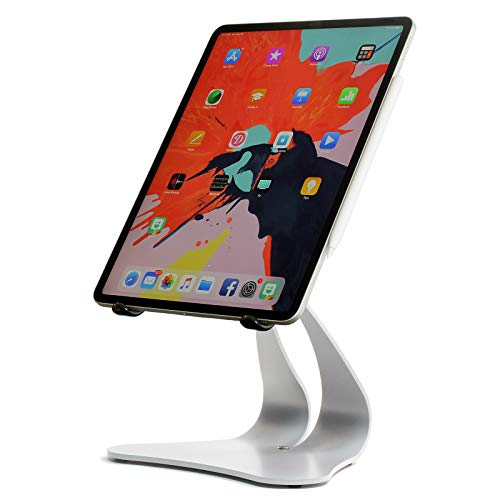 Thought Out Stabile PRO Adjustable Stand Pivoting Silver - Made in USA - Compatible with Apple iPad 10.2, 9.7, 12.9, 11, 10.5, Pro, Air and Surface Galaxy Tablets