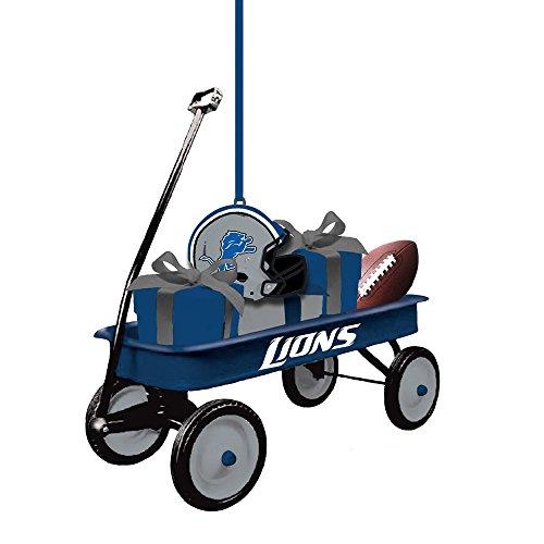 Team Sports America 3OT3810WGN Detroit Lions Team Wagon Ornament