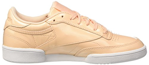 Reebok Club C 85 Patent, Zapatillas de Tenis Para Mujer Beige (Desert Dust/White 000)