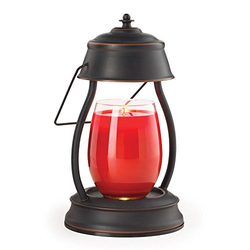 Candle Warmers Etc Hurricane Candle Warmer Lantern For Top-Down Candle Melting, Oil Rubbed Bronze (Hurricane Candle Jar)