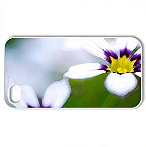 A Pair - Case Cover for iPhone 4 and 4s (Flowers Series, Watercolor style, White)