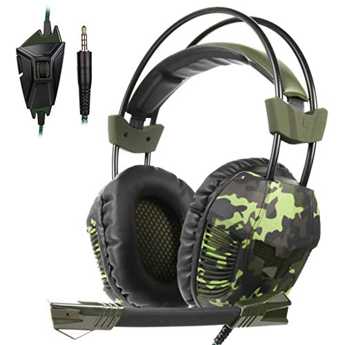 Price comparison product image BIYATE Gaming Headset for Xbox One,  PS4, Nintendo Switch,  PC with Mic - Surround Sound,  Noise Reduction Game Earphone,  Mute Switch- 3.5MM Jack for Cell Phone,  Laptops,  Computer