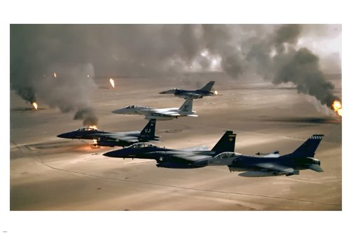 Desert Storm Military POSTER 24X36 Fighter Planes In Formati