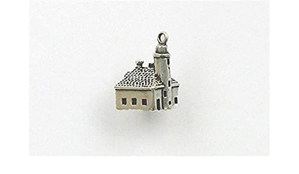 Amazoncom Sterling Silver 3 D Cape Arago Lighthouse Charm