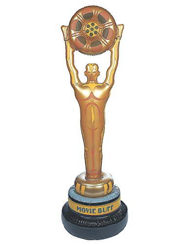 Huge Vinyl Inflatable Movie Buff Party Decoration. 4 Feet (Inflatable Oscar Statue)