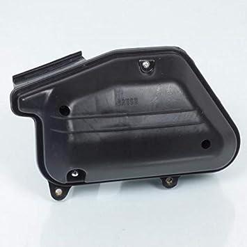 one by Camamoto caja de filtro de aire completo con esponja y manguera en color negro compatible con bws/booster/stunt/slider yamaha/mbk con motores verticales minarelli (hasta 2003)