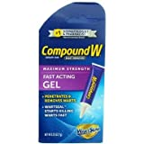 Compound W Maximum Strength, Fast-Acting Gel 0.25 oz (Pack of 5)
