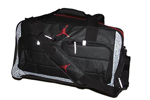 1ab6eb70bef2 Nike Jordan Jumpman All World Duffel Bag Black-Cement Grey-Red - Buy Online  in UAE.