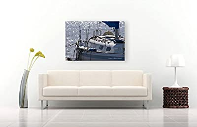 Sailboat Photographic Print on CANVAS Nautical Decor Unframed Large Sailing Photo Blue Beach House Wall Art Coastal Boat Photography Ready to Hang 8x10 8x12 11x14 12x18 16x20 16x24 20x30 24x36