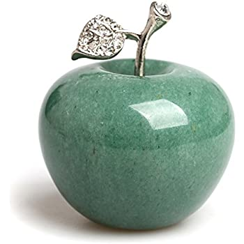 Amazon.com: Hongjintian Natural Green Aventurine Carved Apple ...