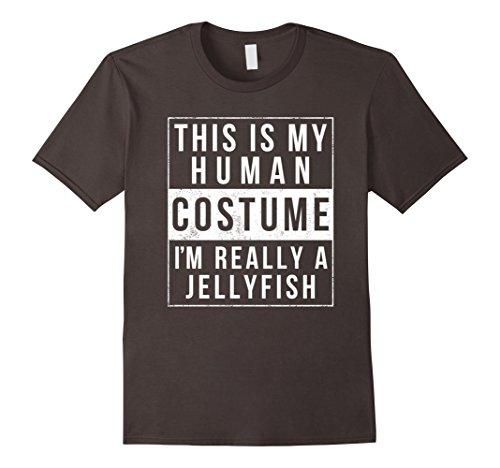 Kids Jellyfish Costume (Mens Jellyfish Halloween Costume Shirt Easy Funny Kids Adult XL Asphalt)
