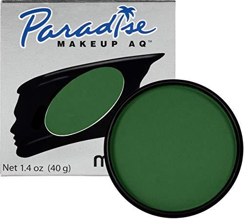 Frankenstein Halloween Makeup Tips (Mehron Makeup Paradise AQ Face & Body Paint, DARK GREEN: Basic Series -)