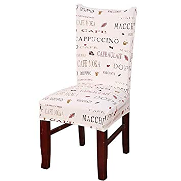 nordmiex Spendex Dining Chair Slipcovers 1 Piece Removable Dining Chair Covers Wrinkle and Stain Resistant Chair Protector Fitted Stretch Cushion Covers for Dining Room