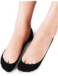 4 Pairs Womens No Show Socks Low Cut - Non Slip Cotton...