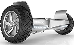 "EPIKGO Self Balancing Scooter Hover Self-Balance Board - UL2272 Certified, All-Terrain 8.5"" Alloy Wheel, 400W Dual-Motor, LG Battery, Board Hover Tough Road Condition [Classic Series Elite Silver]"