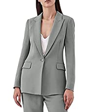 TOPG Women's 2 Piece One Button Casual Suit Solid Office Professional Fashion Lady Work Suit