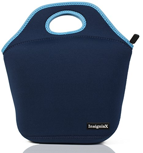 (InsigniaX Neoprene Lunch Bag Cool Lunch Box/Cooler/Lunchbox for Adult Women Men Work School Girls Boys SizeH: 11.8