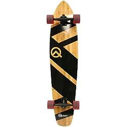 "Quest Super Cruiser Artisan Bamboo Longboard Skateboard, 44"""