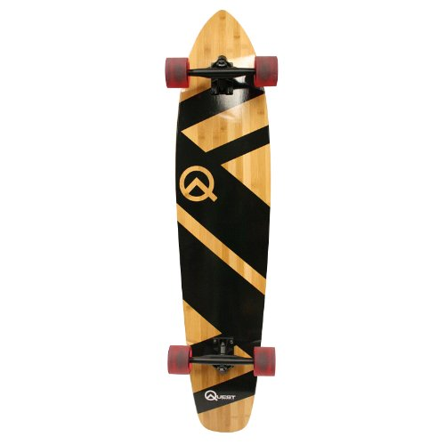 The Quest Super Cruiser'The Original'Artisan Bamboo and Maple 44' Longboard Skateboard