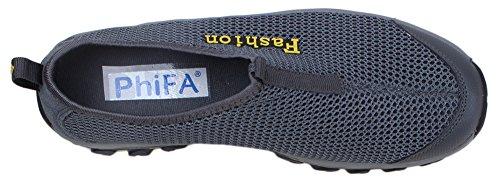 Scarpe Da Corsa Da Uomo Atletiche Phifa Slip On Mesh Sneaker (clearance) Grigio