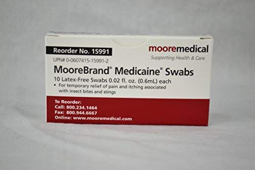(Moore Medical Medicaine Sting Ease Swabs - Pkg of 10)