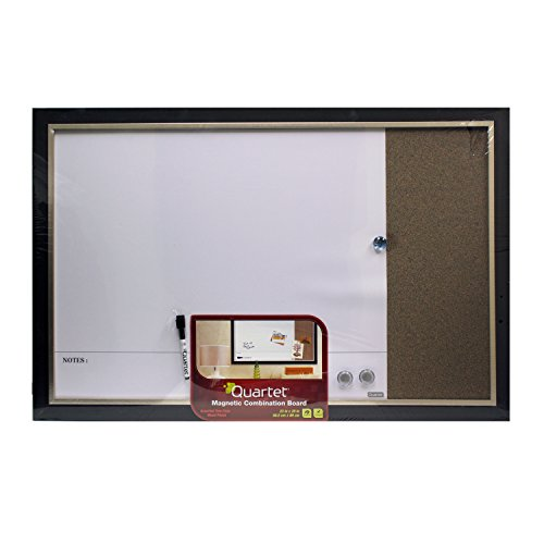 Quartet 23 x 35 Home Decor Two-Tone Dry Erase Bulletin Combo Board (Espresso - Dry Erase Combo Calendar