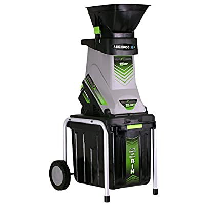 Earthwise GS70015 15-Amp Electric Garden Chipper/Shredder with Collection Bin