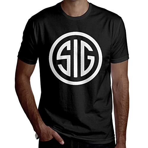 SUZETTE MUNOz T-Shirt Stronger Summer Man's Best Sig Sauer Leisure Short Sleeve Black Tee Comfortable Breathable XL from SUZETTE MUNOz