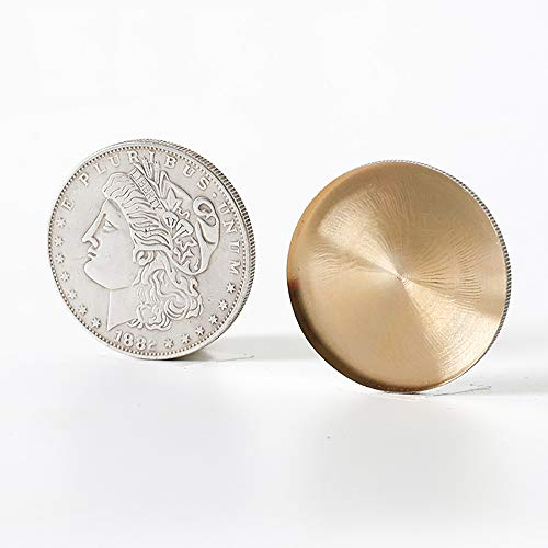Expanded Shell (Morgan Dollar Version) Magic Tricks for Appearing/Disappearing Coins Magic Gimmicks Magician Accessories ()