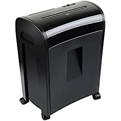 zoomyo Paper Shredder PBS 14 | Black | Suitable Credit Cards CDS | up to 10 Sheets 14 Litre bin
