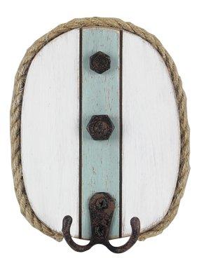 Heart of America Rope Border Wood Nautical Wall Hook