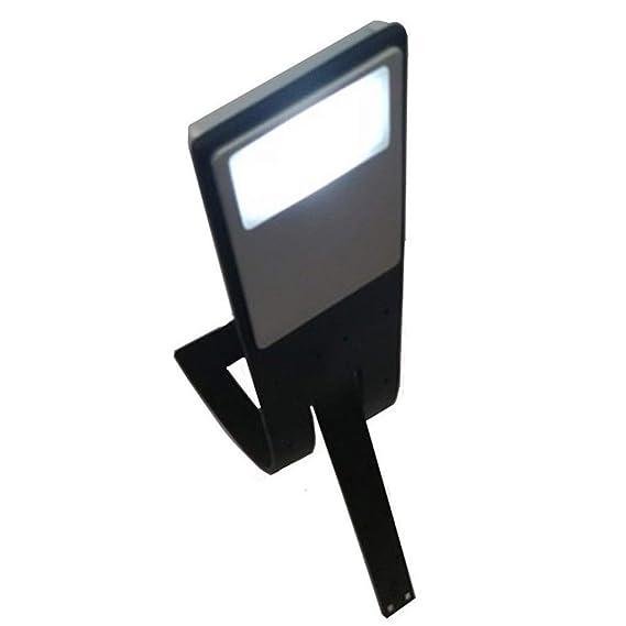 webla electrónico lámpara de Lectura botón Pila Ordinario para Kindle Reader portátil Flexible Plegable LED Clip en Libro de Lectura lámpara lámpara: ...