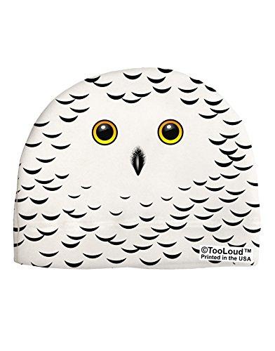 TooLoud Snowy Owl Cute Animal Face Adult Fleece Beanie Cap Hat All Over Print - Owl Fleece Hat