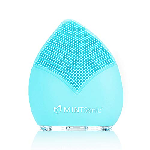Facial Cleansing Brush - Silicone Face Brush - Face Massager - Exfoliate Smooth Skin for a Radiant Clear Complexion by Mint Sonic