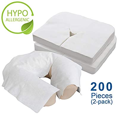EARTHLITE Disposable Face Cradle Covers – Medical-Grade, Ultra Soft, Luxurious, Non-Sticking Massage Face Covers/Headrest Covers for Massage Tables & Massage Chairs
