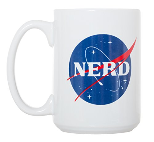 NERD/NASA Science Logo - Funny Large 15 oz Double-Sided Coffee Tea Mug