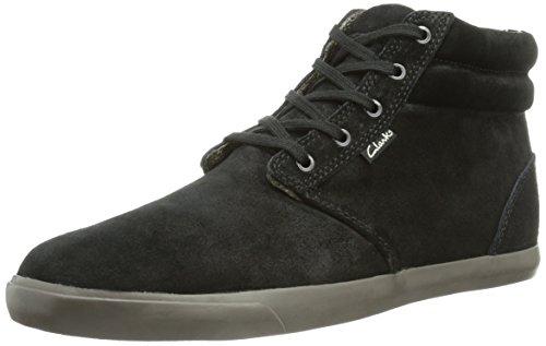 Clarks Torbay Mid, Sneakers da Uomo Nero (Schwarz (Black/Grey))