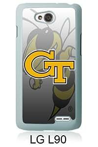 LG L90 Screen Case ,Georgia Tech Yellow Jackets 4 White LG L90 Cover Fashion And Unique Designed Phone Case