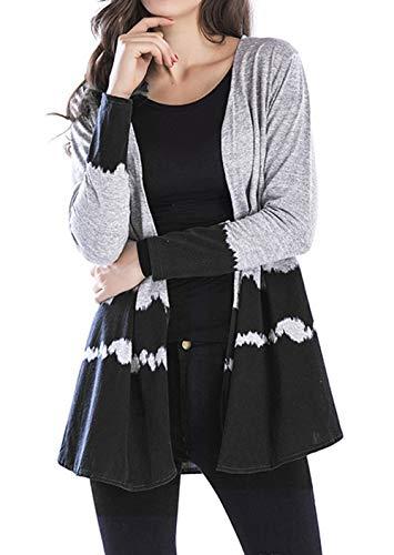 Maglione Cappotto Giacche Giacca Lunga Nero Cime E Autunno Maglieria Media Donne Cardigan Primavera Casual Coat Patchwork Moda Manica Lunghezza Tops qpKHUy1