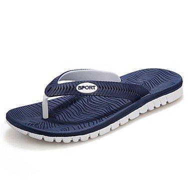 Zapatos de hombre / Exterior / vestimenta casual zapatillas sintéticas Flip-Flops / negro / azul / gris Negro