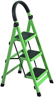Jian E Escalera Telescópica Escalera Escalera Doméstica Plegable, Escalera Multifunción En Espiga, Escalera De 3 Escalones, Escalera De Extensión De Tubo De Acero Grueso, Escalera De Pedal, Puede Sopo: Amazon.es: Bricolaje y