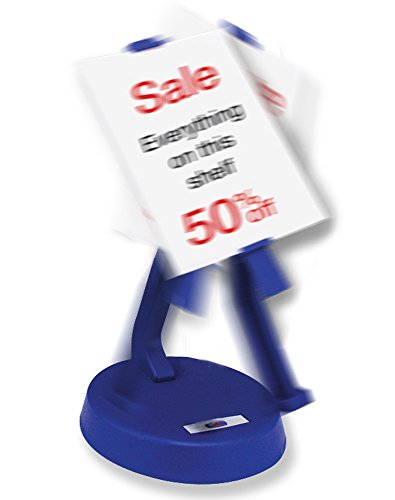 - BANBERRY DESIGNS Rocking Displayer - Constant Swinging Back and Forth Motion - Adjustable Arm Moving Sign Holder - Display Lenticular Business Cards - Battery Powered - 10 Inch High