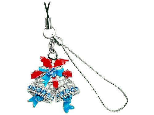 Cellet Christmas Phone Charm - With Sparkling Stones Cellet Christmas Phone (Cellet Christmas Phone Charm)